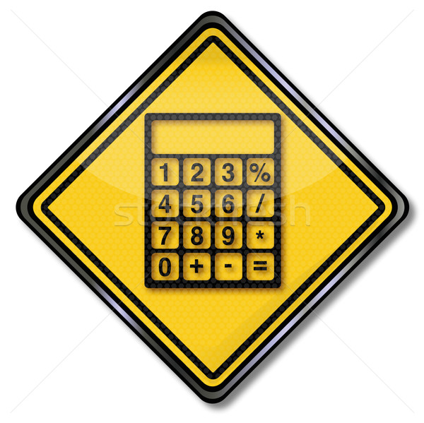 Sign with calculator and accounting Stock photo © Ustofre9