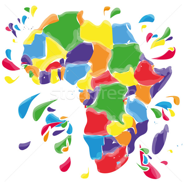Stains and blots with Africa Stock photo © Ustofre9
