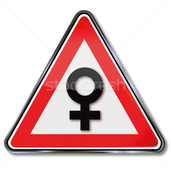 Shield with symbol for women and femininity Stock photo © Ustofre9