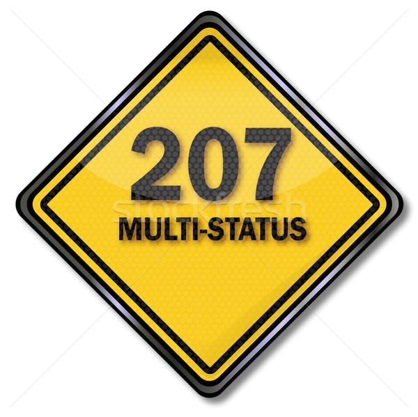 Computer sign plate 207 Multi-Status  Stock photo © Ustofre9