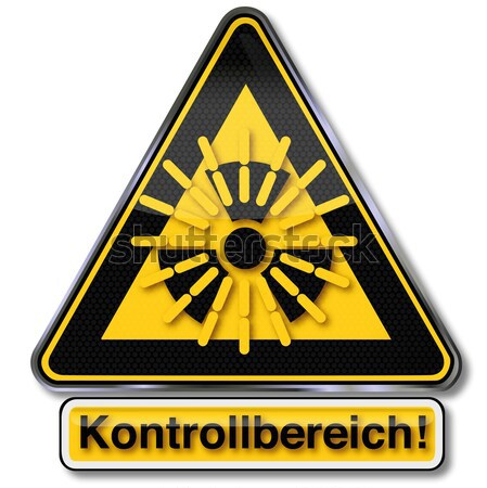 Hazard label with warning explosive fireworks Stock photo © Ustofre9