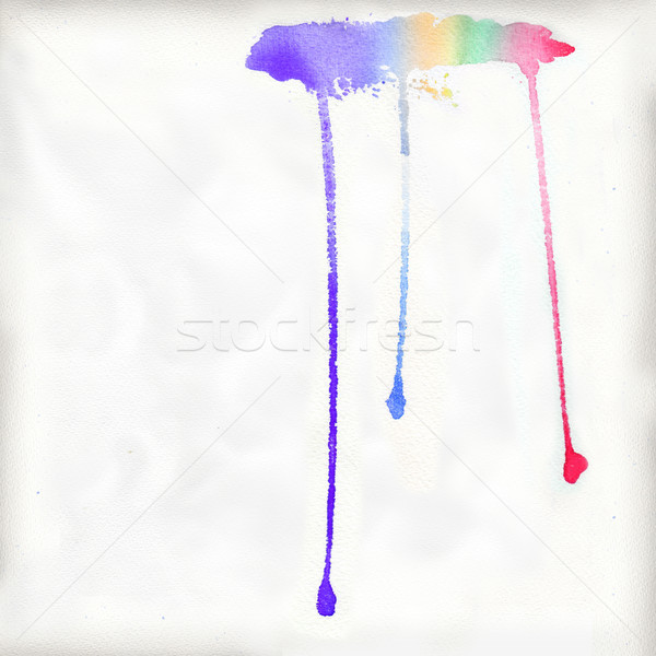 Cloud as a watercolor with colorful raindrops Stock photo © Ustofre9