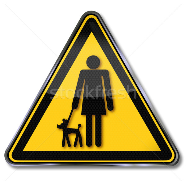 Stok fotoğraf: Imzalamak · kadın · köpek · yavrusu · sevmek · işaretleri · hayvan