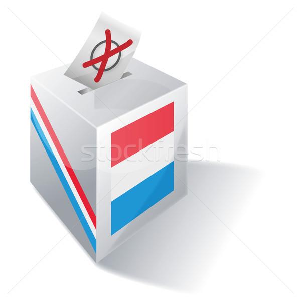 голосование окна Люксембург крест флаг Европа Сток-фото © Ustofre9