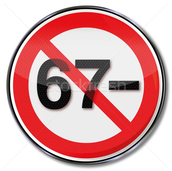 Signo no pensión año justicia velocidad Foto stock © Ustofre9