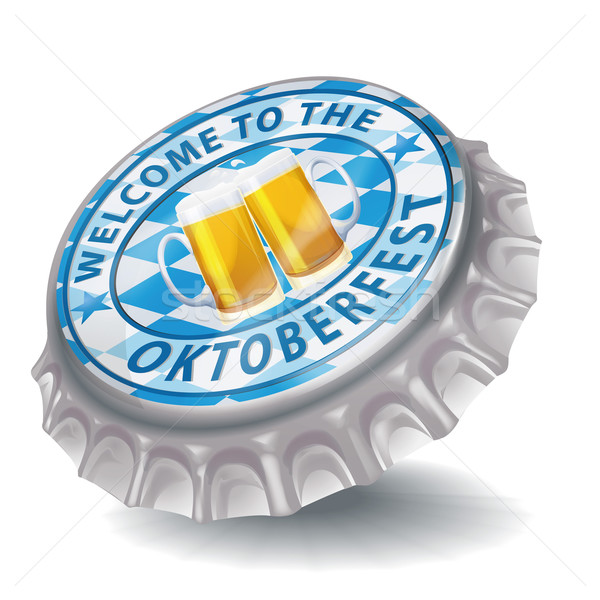 Bottle cap welcome to the Oktoberfest Stock photo © Ustofre9