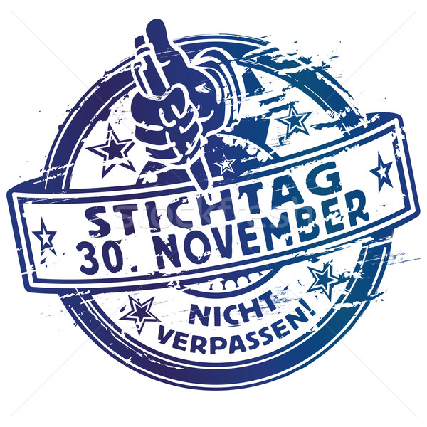 Rubber stamp date 30 November Stock photo © Ustofre9