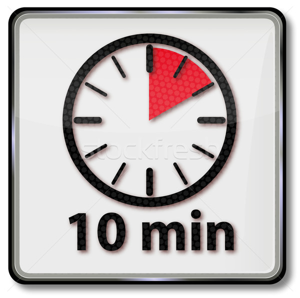 Clock with 10 minutes Stock photo © Ustofre9