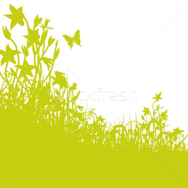 ストックフォト: 開花 · 草原 · 蝶 · イースター · 花 · 草
