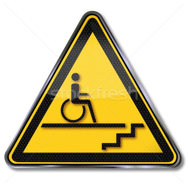 Podpisania wózek schody inwalidztwo pomoc piętrze Zdjęcia stock © Ustofre9