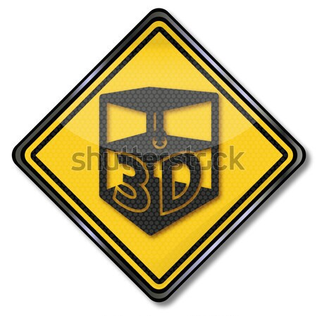 Sign with safety vest for motorists and car driver Stock photo © Ustofre9