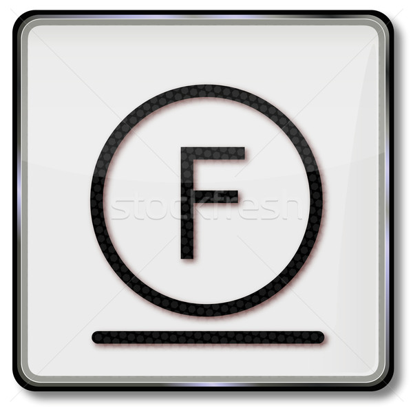 Textile care symbol carefully cleaned with hydrocarbon solvent Stock photo © Ustofre9