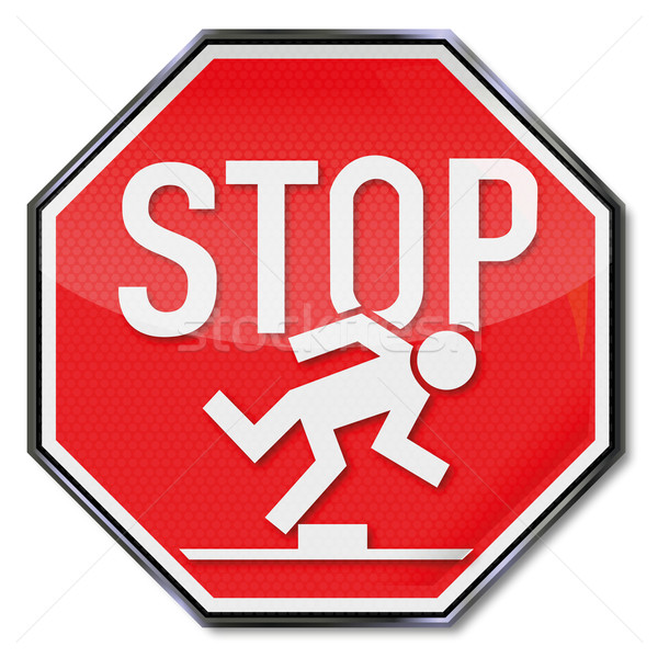 Stop sign tripping hazard Stock photo © Ustofre9