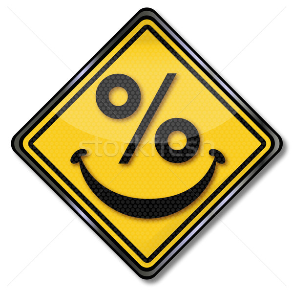 Sign with smiling percent face  Stock photo © Ustofre9