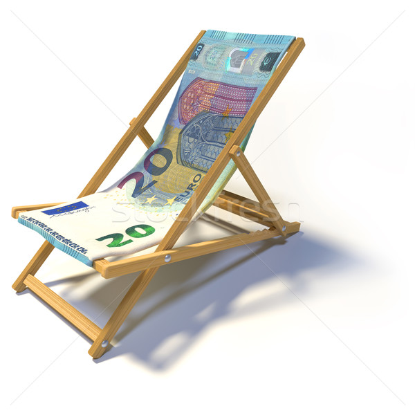 デッキチェア 20 ユーロ ビジネス リラックス 銀行 ストックフォト © Ustofre9