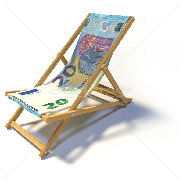 Ligstoel 20 euro business ontspannen bank Stockfoto © Ustofre9