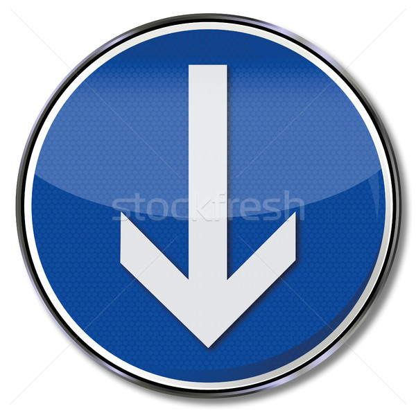Sign arrow down Stock photo © Ustofre9