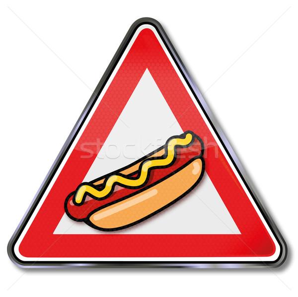 Tablicy kiełbasa hot dog prędkości znaki hot Zdjęcia stock © Ustofre9