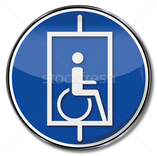 Sign lift for wheelchair users Stock photo © Ustofre9