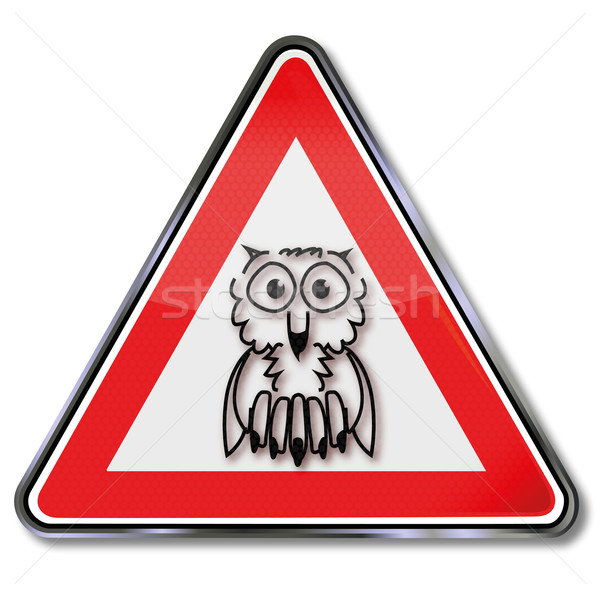 Sign with a owl Stock photo © Ustofre9