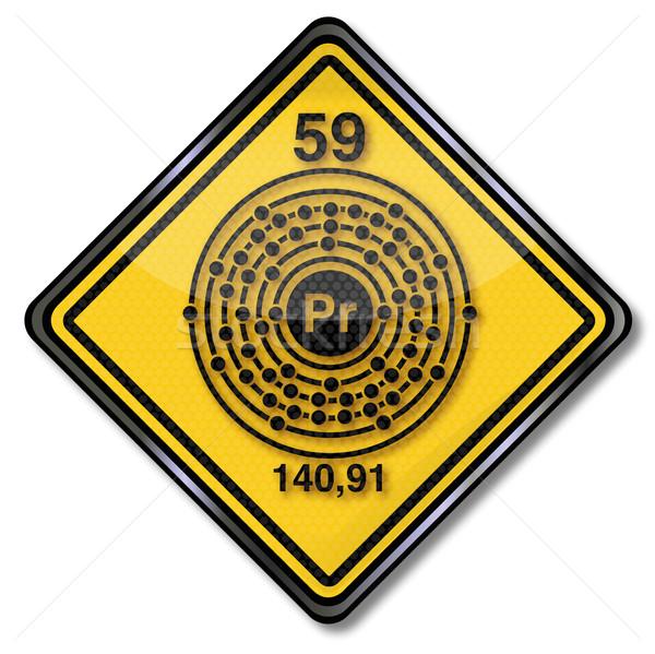 Sign chemistry character praseodymium Stock photo © Ustofre9