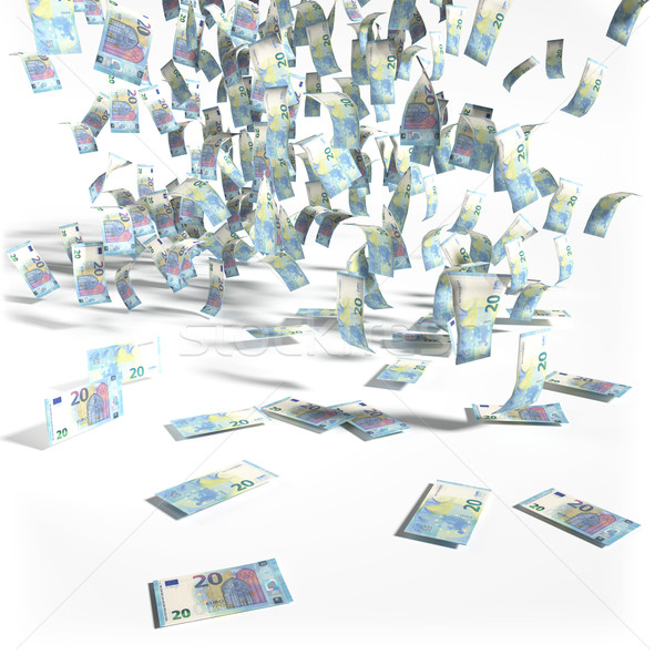 Money rain from twenty euro notes Stock photo © Ustofre9