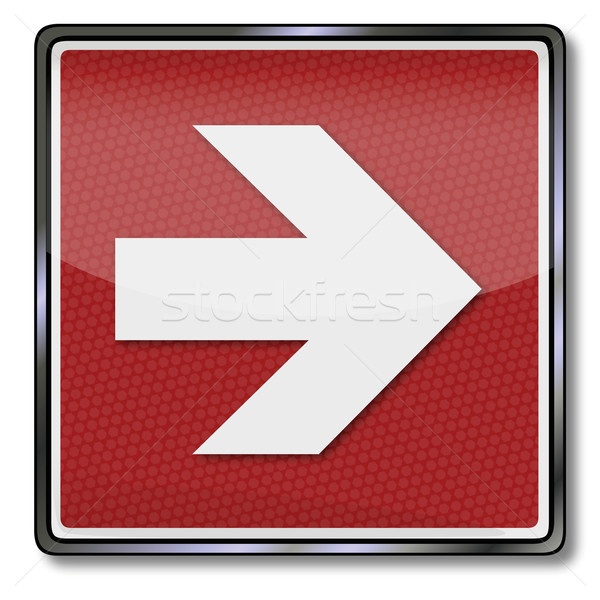 Fire safety sign right arrow Stock photo © Ustofre9
