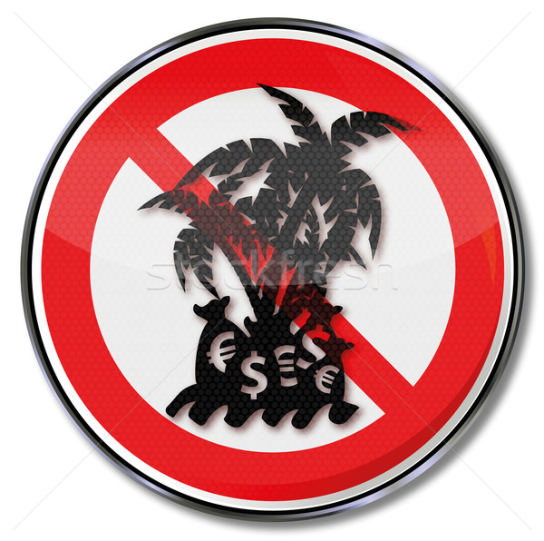 Prohibition sign tax haven Stock photo © Ustofre9