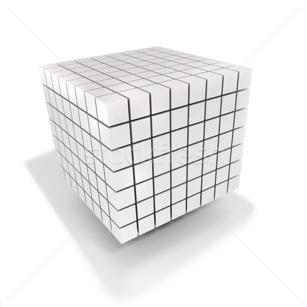 Cube dés beaucoup faible cubes construction Photo stock © Ustofre9