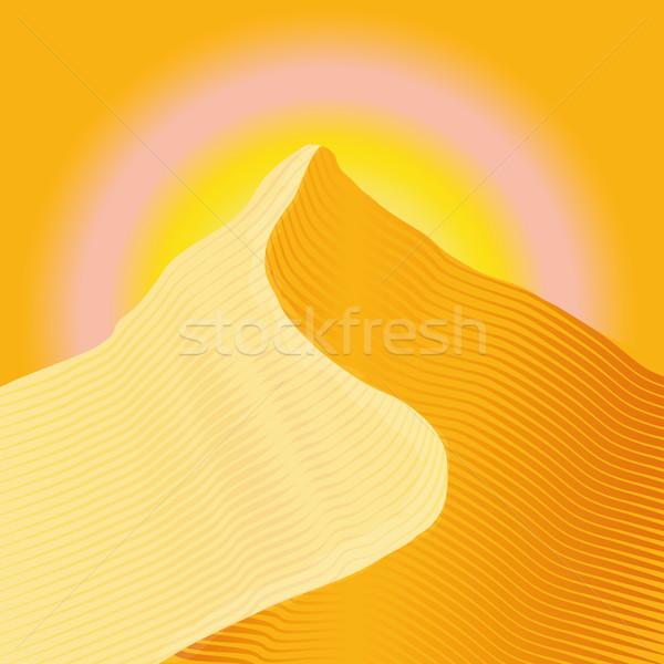 Duin hemel achtergrond zomer oranje kleur Stockfoto © Ustofre9