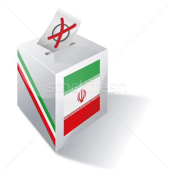 Szavazócédula doboz Irán kereszt zászló Európa Stock fotó © Ustofre9