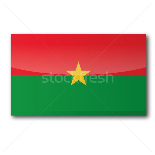 Flag Burkina Faso Stock photo © Ustofre9
