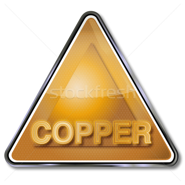 Signo cobre metal placa signos bordo Foto stock © Ustofre9