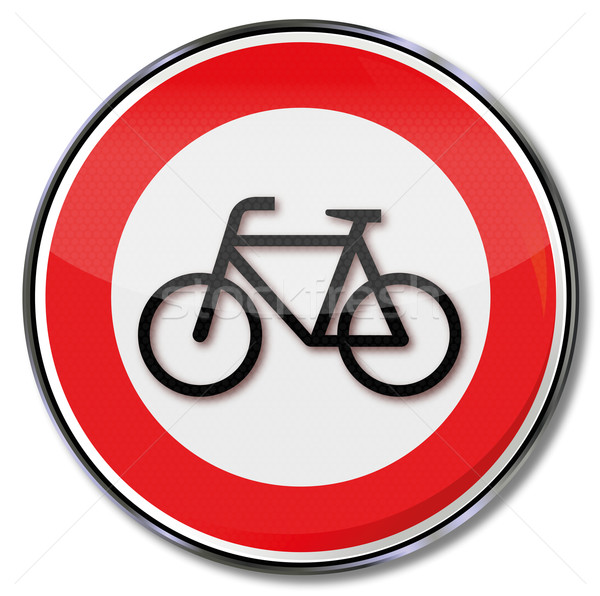 Traffic sign Prohibition for bikes Stock photo © Ustofre9