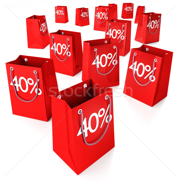 Shopping bags 40%  Stock photo © Ustofre9