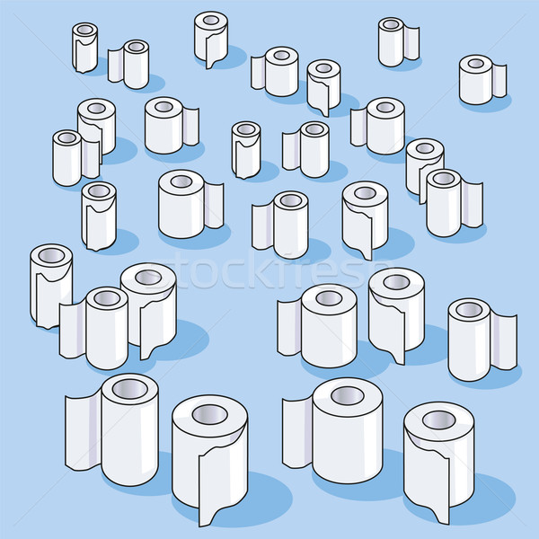 Many small toilet paper rolls and paper  Stock photo © Ustofre9