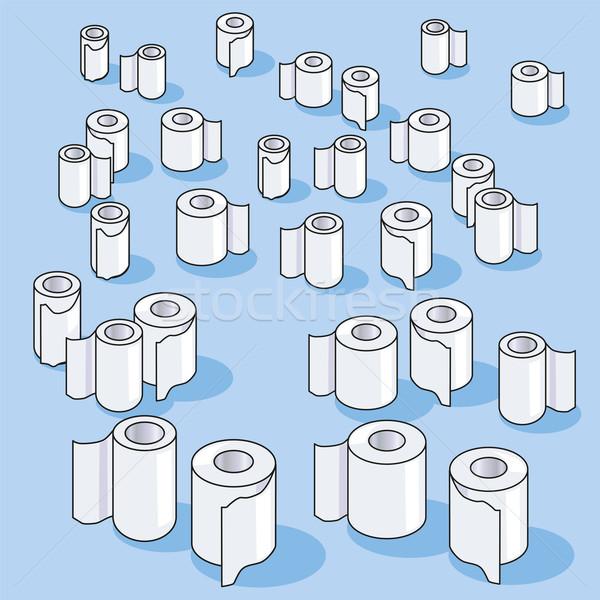 Molti piccolo carta igienica carta design Foto d'archivio © Ustofre9