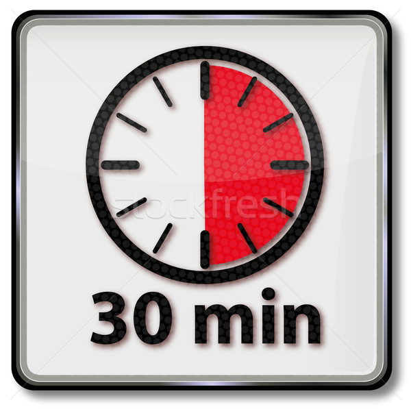 Reloj 30 reunión tiempo gráfico Foto stock © Ustofre9