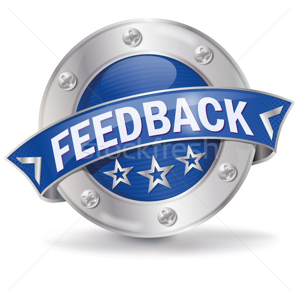 Stock photo: Button with feedback