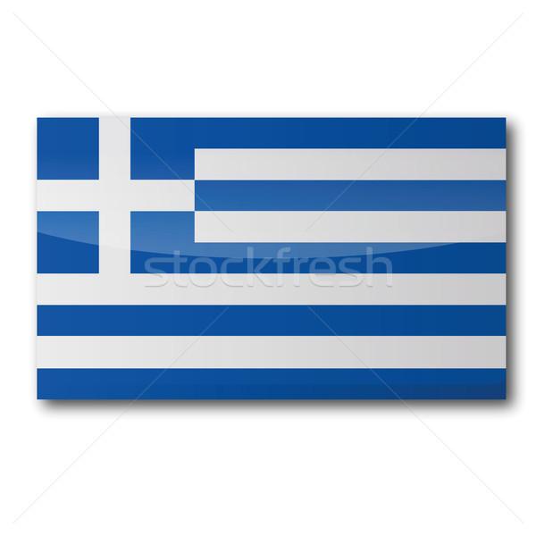 флаг Греция карта острове евро стране Сток-фото © Ustofre9