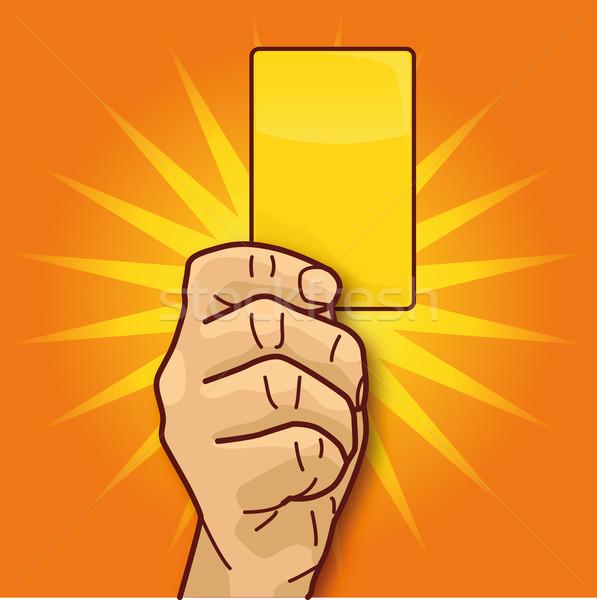 手 スポーツ 黄色 カード ビジネス ストックフォト © Ustofre9
