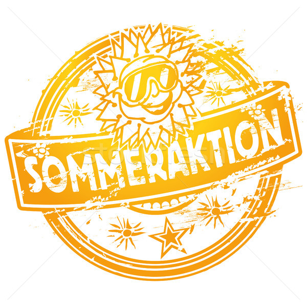 Rubber stamp summer action Stock photo © Ustofre9