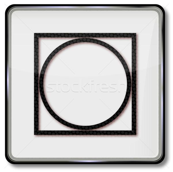 Textile care symbol drum dryer Stock photo © Ustofre9