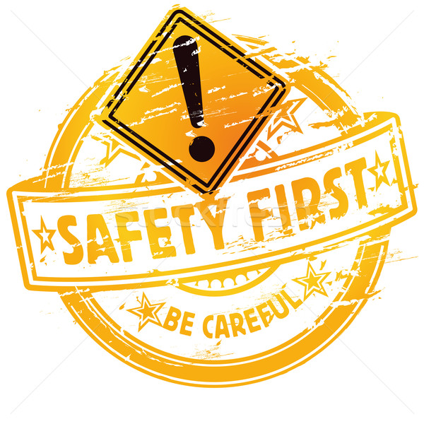 Rubber stamp safety first Stock photo © Ustofre9