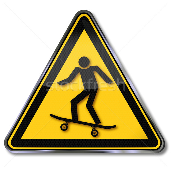 Sign skateboard and skateboarding Stock photo © Ustofre9