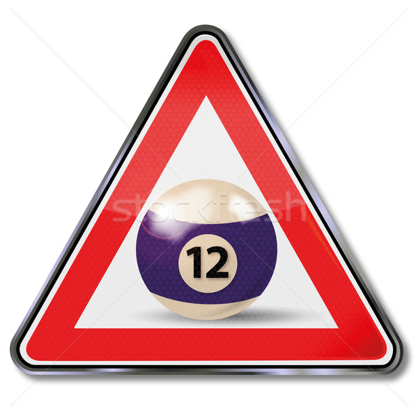 Sign billiard ball number 12 Stock photo © Ustofre9