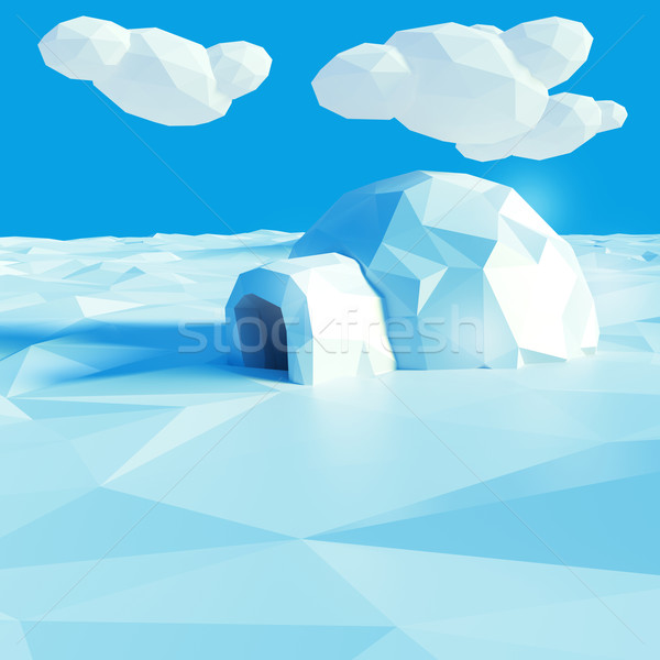 Igloo and climate change Stock photo © Ustofre9
