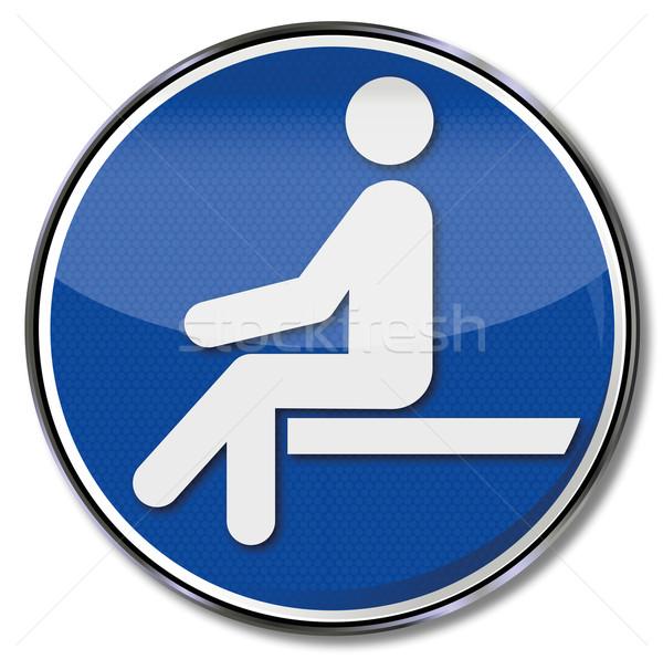 ストックフォト: 座席 · ブレーク · 椅子 · 産業 · シニア