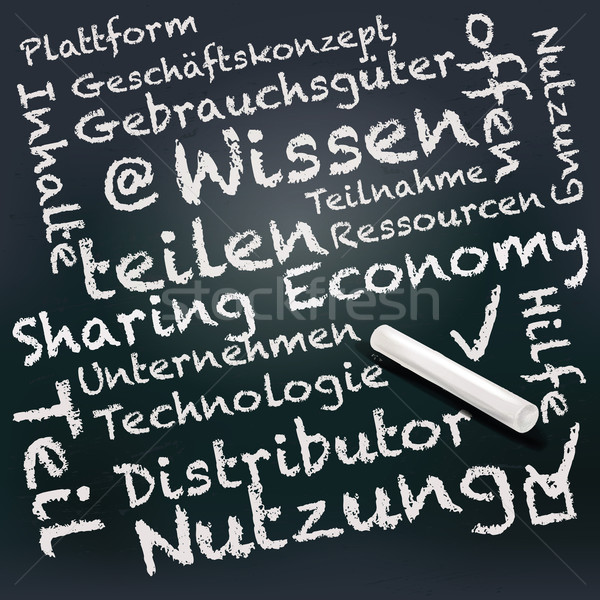 Blackboard with sharing economy Stock photo © Ustofre9