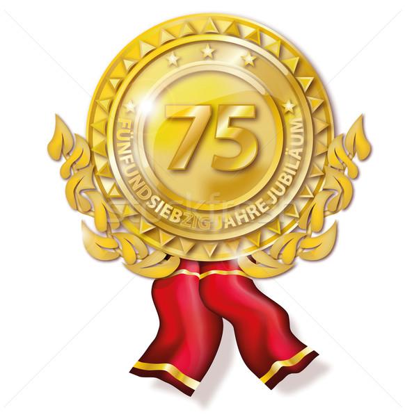 Médaille anniversaire affaires design web aider Photo stock © Ustofre9
